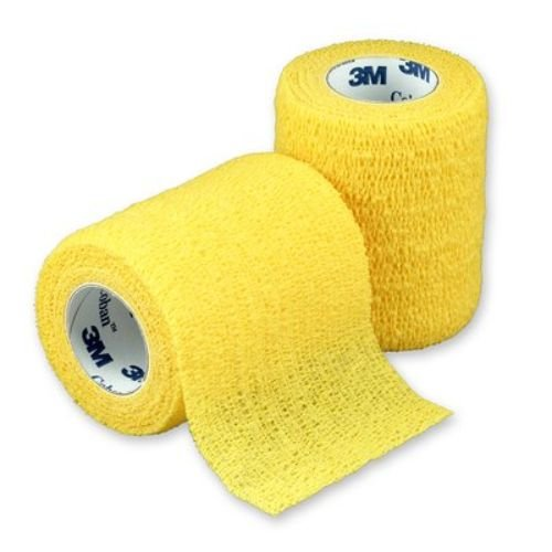 3M Health Care 1583Y Self-Adherent Wrap, 3'' x 5 yd. Size, Yellow (Pack of 24)