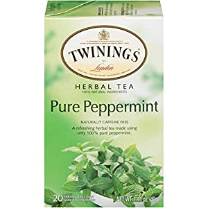 Well-Being-Matters 414GRDiKYNL._SS300_ Twinings of London Pure Peppermint Herbal Tea Bags, 20 Count (Pack of 1)