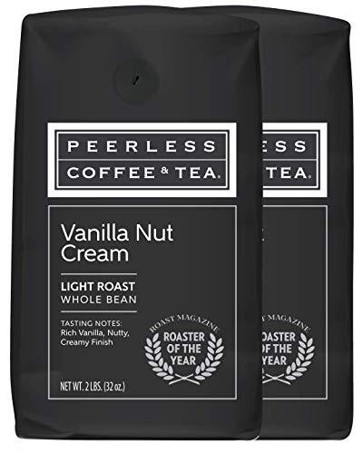 Peerless, Whole Bean Coffee, 2 Pounds (Vanilla Nut Cream, 2 bags)