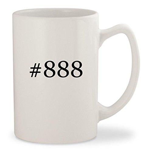 #888 - White Hashtag 14oz Ceramic Statesman Coffee Mug Cup