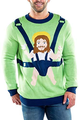 Tipsy Elves Men's Sweet Baby Jesus Christmas Sweater: -