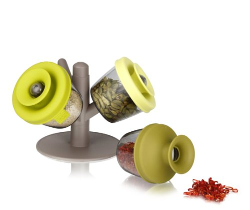 Vacu Vin 2842660 PopSome Herbs and Spices with Tree stand, Set of 3