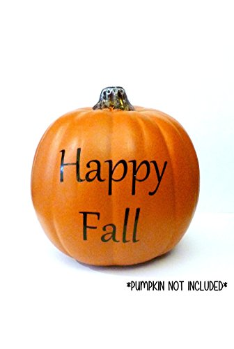 Happy Fall Decal, Halloween Pumpkin Decoration, Fall Harvest