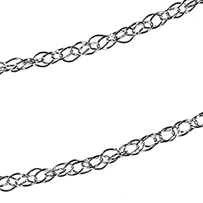 14K White Gold Rope Chain Rhodium 9R 18 Inch by ugems