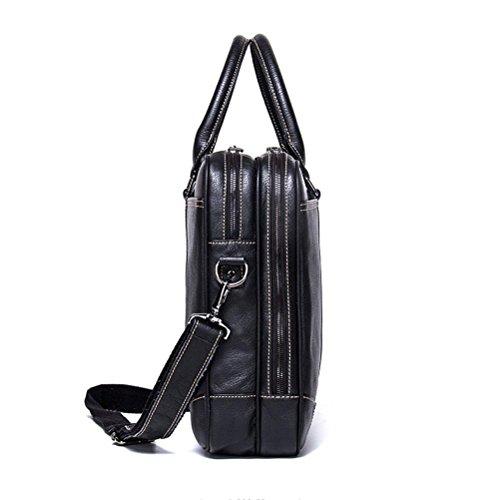 Bolso Manera Black Briefcases La Bolso Messenger Gtuko Del Bbo Bags Cuero Masculina De Genuino Cartera Negro Hombro Hombres 1ZWT6q