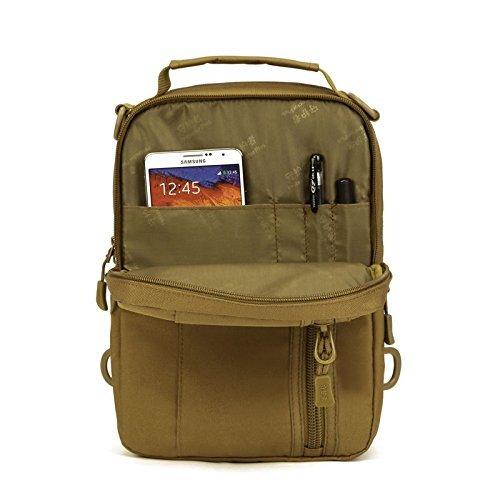 Maxmer tattico militare petto borsa zaino Zaino da spalla con tracolla multiuso per campeggio viaggio zaini marrone