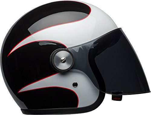 Bell Riot Classic Helmet - Gloss White / Black / Red Boost - Small