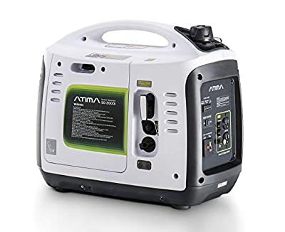 Atima SD2000i 2000 Watt Small Quiet Portable Inverter Generator, Carb Compliant Gas-Powered for RV Camping or Home Use