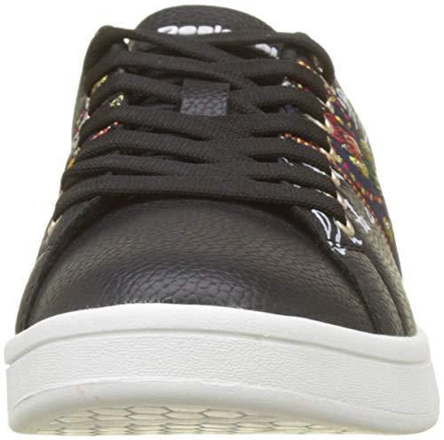 Exotic Donna Shoes Nero 2000 Negro da Scarpe Desigual Cosmic Basse Ginnastica PFRPn