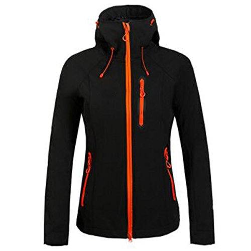 Fleece Softshell Wu New Giacche Donna Black Windproof Lai Solid Outdoor 0pqw460C