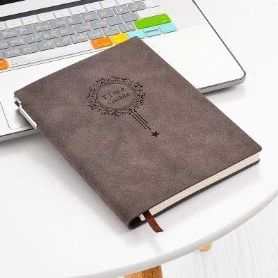 ZJWHH Hacer Logo A5 Nombre Del Cuaderno Almohadillas De Cuero Personalizadas Carpeta Negra Diario Oficina Líder De Útiles Escolares Regalo Con Estuche café: Amazon.es: Oficina y papelería