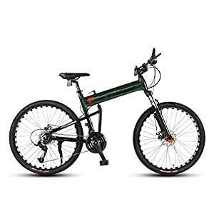 414GU fOP7L. SS300 Bicicletta, Pieghevole Bicicletta Mountain Bike, 26 Pollici 24 velocità Biciclette, Bicicicletta MTB, Assorbimento degli…