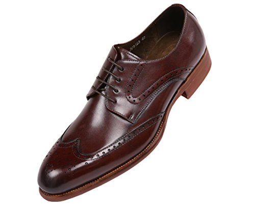 Wingtip Calf Brushed Lace Green Classic Leather Style Mens Shoe Dress AG8123 Asher Oxford Up Brown ntq4xgSXxE