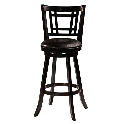 Hillsdale Furniture 4650-827 Fairfox Swivel Counter Stool, Height, Black (Art Deco Leather)