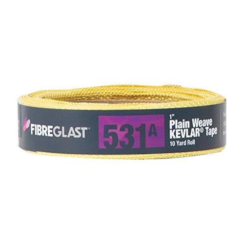Fibre Glast Kevlar Tape - Durable - Uniform Strength - No Unraveling - 1 Inch - 10 Yard Roll (Carbon Fiber Fabric Tape)