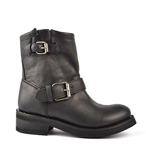 Ash Footwear Tears Black Leather Ankle Boot Black