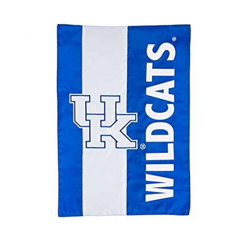 Team Sports America University of Kentucky Outdoor Safe Double-Sided Embroidered Logo Applique Garden Flag, 12.5 x 18 inches