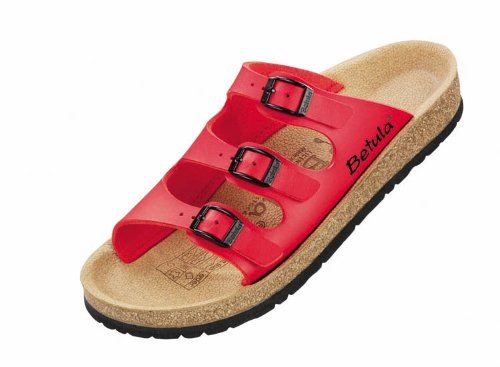 """Betula licensed by Birkenstock. Model """"Relax Easy 300"""" in """"Red""""."""