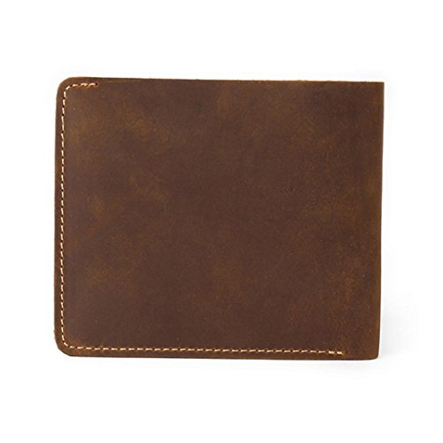 Tootu Men Leather Bifold Cards Holder Slim Wallet Money Purse Billfold (Coffee)