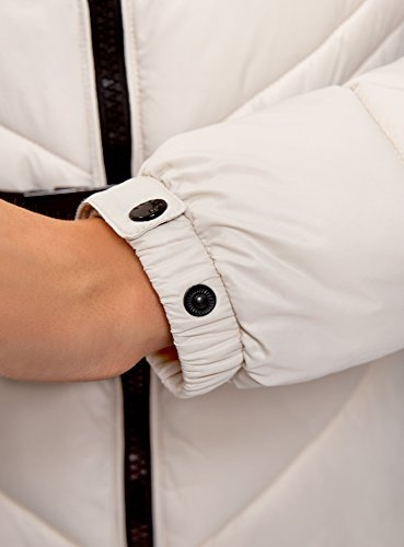 Donne Oodji 2000n Dettagli Rivestimento A Alta Ultra Contrasto Beige Delle Coibentata Collare Con qwB1fnHxEO
