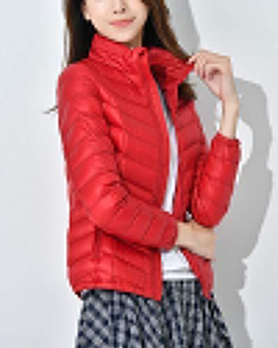 Packable Suncaya Puffer Collar Warm Elegant Ultralight Women's Coat Windproof Stand Jacket Red Down zzxSHa