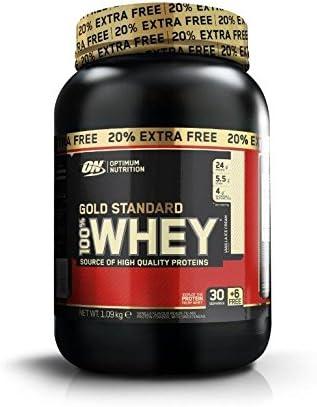 Optimum Nutrition WHEY GOLD STANDARD - helado de vainilla - 908gr