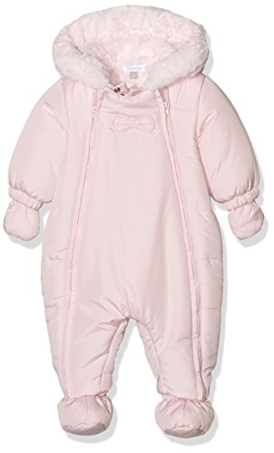 Outterwear romper suit hood soft pink fake fur lining baby girl absorba by absorba (Image #1)