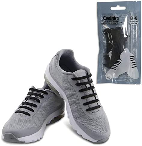 Coolnice Shoelaces Adults Waterproof Multicolor Shoes Black