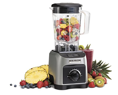 Hamilton Beach Professional 1800W Blender with 64 oz Bpa-Free Jar, Silver (58800)