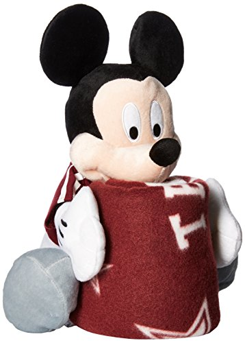 Officially Licensed NCAA Texas A&M Aggies Co-Branded Disney's Mickey Hugger and Fleece Throw Blanket Set (A&m Texas Fleece)