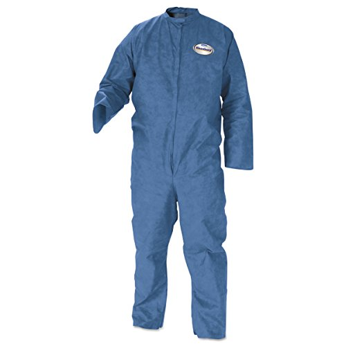 Kimberly-Clark KleenGuard A20 Microforce Barrier SMS Fabric Breathable Particle Protection Coverall, Disposable (Case of 24)