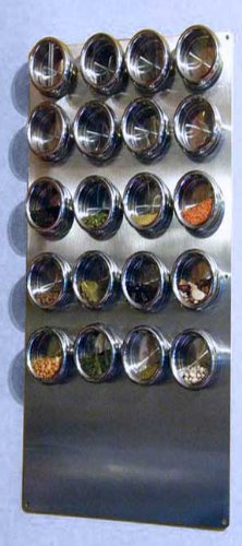 Spice Tin Wall Base, Stainless 12