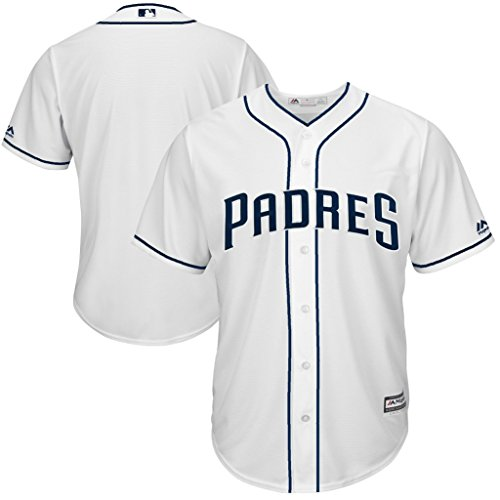 VF San Diego Padres MLB Mens Majestic Cool Base Replica Jersey White Big & Tall Sizes (6XL) - San Diego Padres Cool