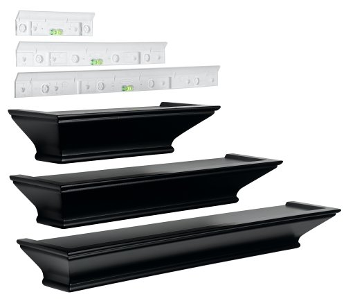 Burnes of Boston LL2932 Level Line  Black 3 piece Ledge Set