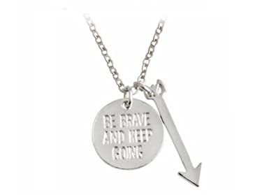currency Fashion Women Stainless Steel Be Brave Necklace for Gift s5gJX