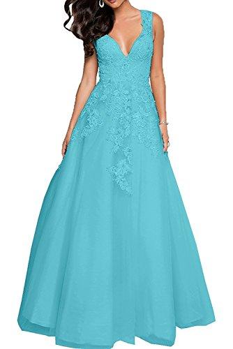 Abschlussballkleider Braut mia Festlichkleider Partykleider Promkleider Perlen Blau Spitze Rosa Damen La Prinzess Abendkleider 6aPxw6