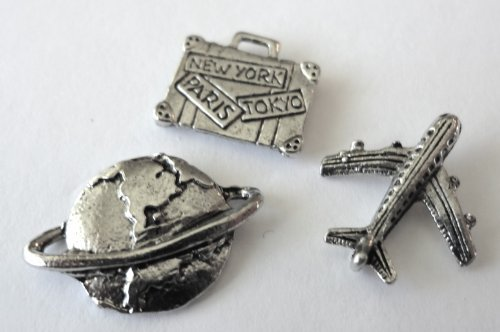 TRAVEL THE WORLD 15 decorative push pins T-84/1AS