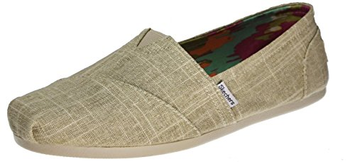 Skechers BOBS Women's Plush - Peace and Love, Taupe Memories