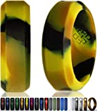 Camo Silicone Wedding Ring Band for Men Size 8: Superior Non Bulky Rubber Rings - Premium Quality, Style, Safety, Comfort - Ideal Bands for Gym, Safe for Work, Hunting, Sports, and Travels