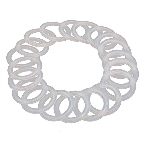 (HODEE 20 PCS Sanitary triCLAMP Tri CLAMP Silicone Gasket 1.5