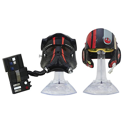 Star Wars: The Force Awakens Black Series Titanium Series First Order TIE FIghter Pilot and Black Leader Poe Dameron Helmets (Star Wars Black Series Titanium Tie Fighter)