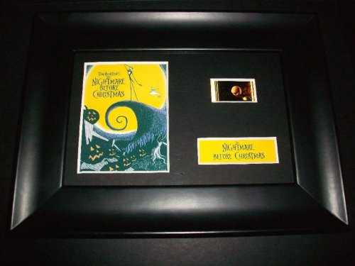 NIGHTMARE BEFORE CHRISTMAS Framed Movie Film Cell Display Compliments poster dvd book