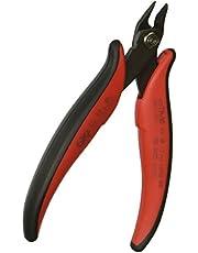 Hakko CHP TR-30 Medium Soft Wire Cutter, Flush-cut, 3.0mm Hardened Carbon Steel Construction, 21-Degree Angled Jaw, 8mm Jaw Length, 16 Gauge Maximum Cutting Capacity