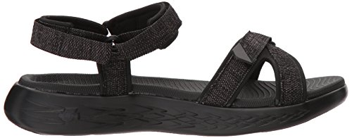 Skechers Womens On-The-Go 600-15315 Wide Sport Sandal Black 4pgnYsjg