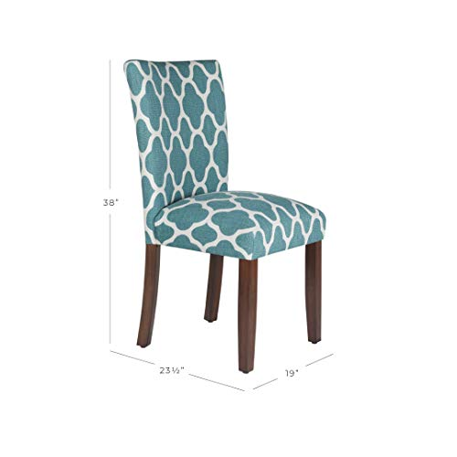 HomePop Parsons Classic Upholstered Accent Dining Chair, Set of 2, Teal and Cream Geometric by HomePop (Image #6)