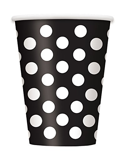 [Black Polka Dot 12 oz Hot/Cold Cups (6 ct)] (Halloween Costumes Ideas For A Group Of 6)