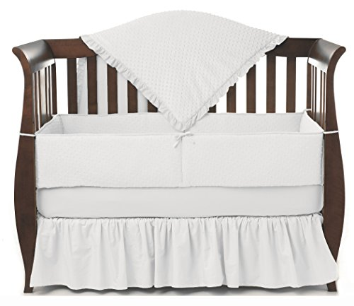 American Baby Company Heavenly Soft Minky Dot 4-Piece Crib Bedding Set, White - Heavenly Soft Cradle Sheet