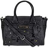 COACH Women's Tea Rose Tooling with Applique Refresh Coach Swagger 27 Dk/Black One Size