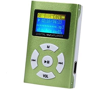 Start Mini Metal Protable USB Mini LCD Screen MP3 Player Support 32GB Micro SD TF Card-Green