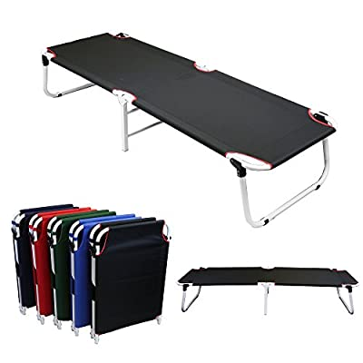 Magshion Portable Military Fold Up Camping Bed Cot + Free Storage Bag- 5 Colors by Magshion Furniture